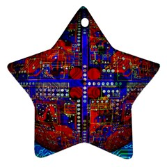 Board Interfaces Digital Global Star Ornament (two Sides) by Sapixe