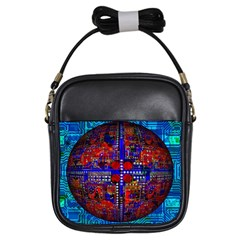 Board Interfaces Digital Global Girls Sling Bags by Sapixe