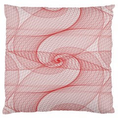 Red Pattern Abstract Background Standard Flano Cushion Case (two Sides) by Sapixe