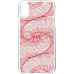 Red Pattern Abstract Background Apple Iphone X Seamless Case (white)