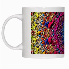 Background Fractals Surreal Design White Mugs by Sapixe