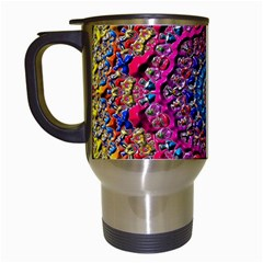 Background Fractals Surreal Design Travel Mugs (white) by Sapixe