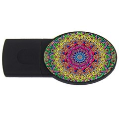 Background Fractals Surreal Design Usb Flash Drive Oval (4 Gb) by Sapixe