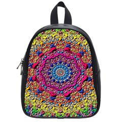 Background Fractals Surreal Design School Bag (small) by Sapixe