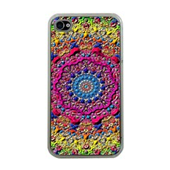 Background Fractals Surreal Design Apple Iphone 4 Case (clear) by Sapixe