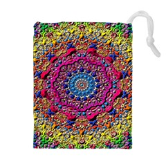 Background Fractals Surreal Design Drawstring Pouches (extra Large) by Sapixe