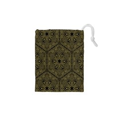 Texture Background Mandala Drawstring Pouches (xs)  by Sapixe