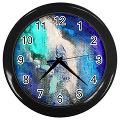 Blue Sensations Wall Clocks (black)