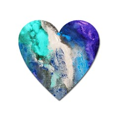 Blue Sensations Heart Magnet by Art2City