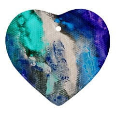 Blue Sensations Heart Ornament (two Sides) by Art2City