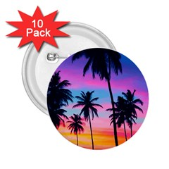 Sunset Palms 2 25  Buttons (10 Pack)  by goljakoff