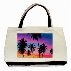 Sunset Palms Basic Tote Bag (two Sides) by goljakoff