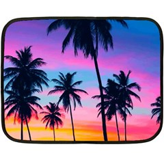 Sunset Palms Double Sided Fleece Blanket (mini)  by goljakoff