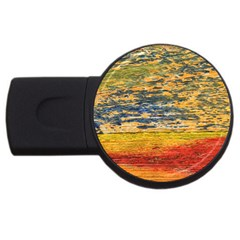 The Framework Drawing Color Texture Usb Flash Drive Round (2 Gb) by Sapixe