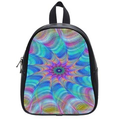 Fractal Curve Decor Twist Twirl School Bag (small) by Sapixe