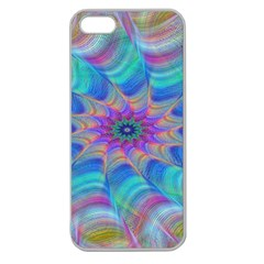 Fractal Curve Decor Twist Twirl Apple Seamless Iphone 5 Case (clear) by Sapixe