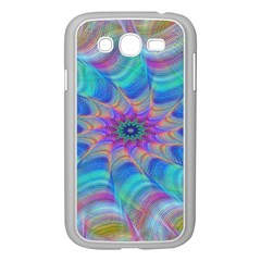 Fractal Curve Decor Twist Twirl Samsung Galaxy Grand Duos I9082 Case (white) by Sapixe