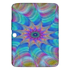 Fractal Curve Decor Twist Twirl Samsung Galaxy Tab 3 (10 1 ) P5200 Hardshell Case  by Sapixe