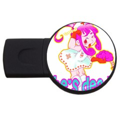 Oopsi Usb Flash Drive Round (4 Gb) by psychodeliciashop