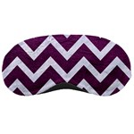 CHEVRON9 WHITE MARBLE & PURPLE LEATHER Sleeping Masks Front