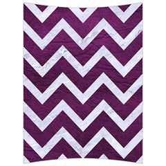 Chevron9 White Marble & Purple Leather Back Support Cushion by trendistuff