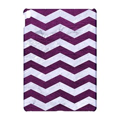 Chevron3 White Marble & Purple Leather Apple Ipad Pro 10 5   Hardshell Case by trendistuff