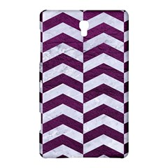 Chevron2 White Marble & Purple Leather Samsung Galaxy Tab S (8 4 ) Hardshell Case