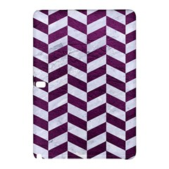 Chevron1 White Marble & Purple Leather Samsung Galaxy Tab Pro 12 2 Hardshell Case by trendistuff