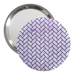 Brick2 White Marble & Purple Leather (r) 3  Handbag Mirrors by trendistuff