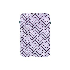 Brick2 White Marble & Purple Leather (r) Apple Ipad Mini Protective Soft Cases by trendistuff