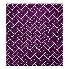 Brick2 White Marble & Purple Leather Shower Curtain 66  X 72  (large)  by trendistuff