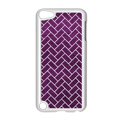 Brick2 White Marble & Purple Leather Apple Ipod Touch 5 Case (white) by trendistuff