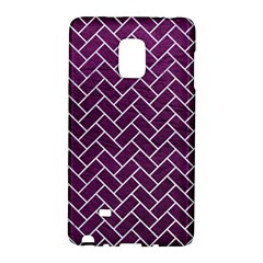 Brick2 White Marble & Purple Leather Galaxy Note Edge by trendistuff