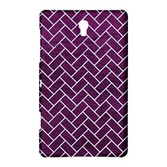 Brick2 White Marble & Purple Leather Samsung Galaxy Tab S (8 4 ) Hardshell Case  by trendistuff