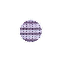 Brick1 White Marble & Purple Leather (r) 1  Mini Magnets