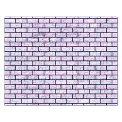 Brick1 White Marble & Purple Leather (r) Rectangular Jigsaw Puzzl by trendistuff