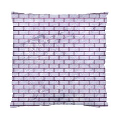 Brick1 White Marble & Purple Leather (r) Standard Cushion Case (one Side) by trendistuff