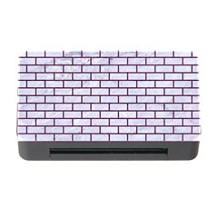 Brick1 White Marble & Purple Leather (r) Memory Card Reader With Cf by trendistuff