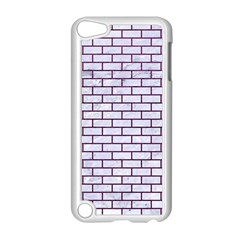 Brick1 White Marble & Purple Leather (r) Apple Ipod Touch 5 Case (white) by trendistuff