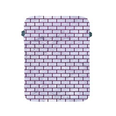 Brick1 White Marble & Purple Leather (r) Apple Ipad 2/3/4 Protective Soft Cases by trendistuff