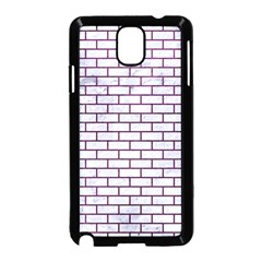 Brick1 White Marble & Purple Leather (r) Samsung Galaxy Note 3 Neo Hardshell Case (black) by trendistuff