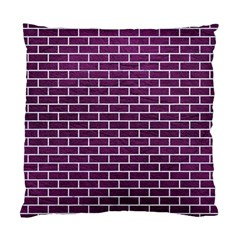 Brick1 White Marble & Purple Leather Standard Cushion Case (one Side) by trendistuff
