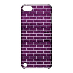 Brick1 White Marble & Purple Leather Apple Ipod Touch 5 Hardshell Case With Stand by trendistuff