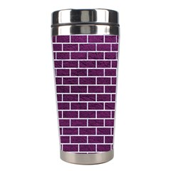 Brick1 White Marble & Purple Leather Stainless Steel Travel Tumblers by trendistuff