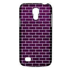 Brick1 White Marble & Purple Leather Galaxy S4 Mini by trendistuff