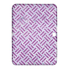 Woven2 White Marble & Purple Glitter (r) Samsung Galaxy Tab 4 (10 1 ) Hardshell Case  by trendistuff