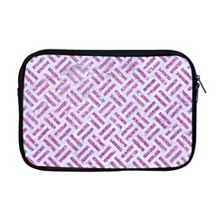 Woven2 White Marble & Purple Glitter (r) Apple Macbook Pro 17  Zipper Case by trendistuff