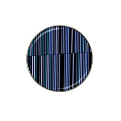 Shades Of Blue Stripes Striped Pattern Hat Clip Ball Marker (4 Pack)