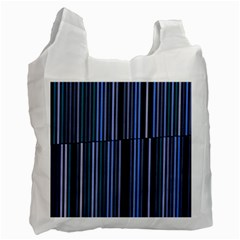 Shades Of Blue Stripes Striped Pattern Recycle Bag (one Side)