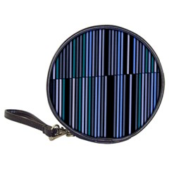 Shades Of Blue Stripes Striped Pattern Classic 20 Cd Wallets